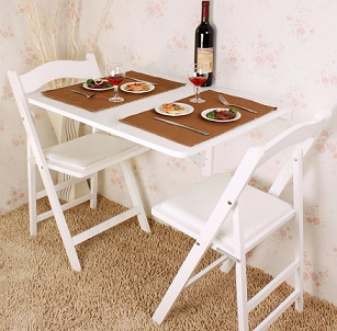 La table murale pliante pour un gain de place optimale - Table pliante murale cuisine ...