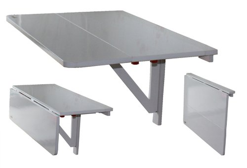 La table murale pliante pour un gain de place optimale - Table cuisine murale avec pied ...