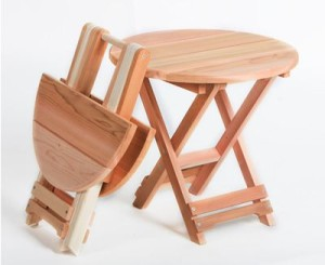 table de camping pliable en bois